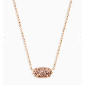 NWT Kendra Scott Elisa necklace in rose gold drusy